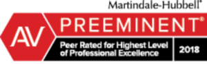 AV Preeminent Peer Rated Highest Level Of Professional Excellence